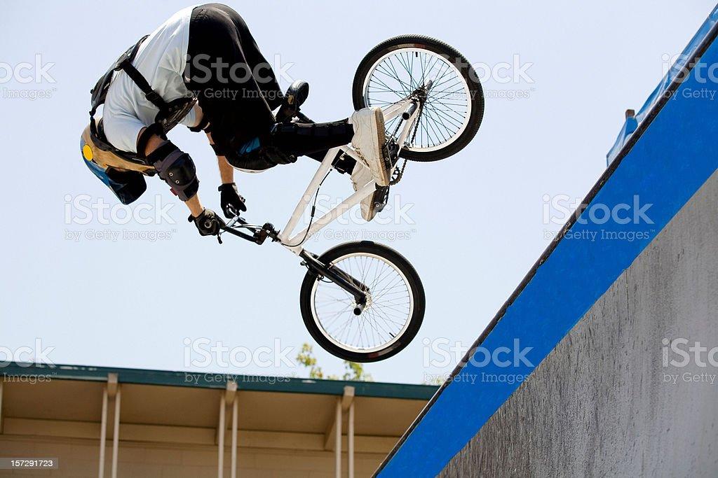 Trick BMX Rider royalty-free stock photo