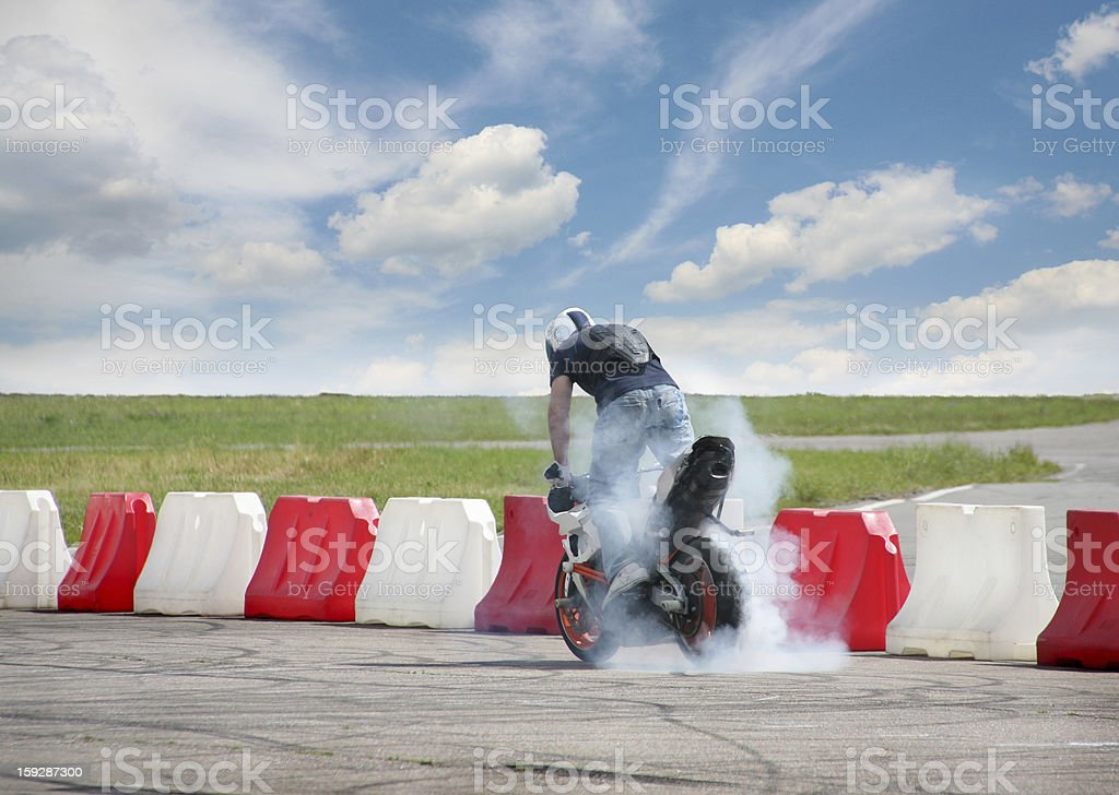 Trick on motorcycle royalty-free stock photo