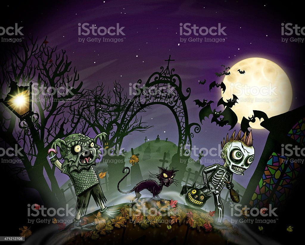 Trick or Treaters royalty-free stock photo