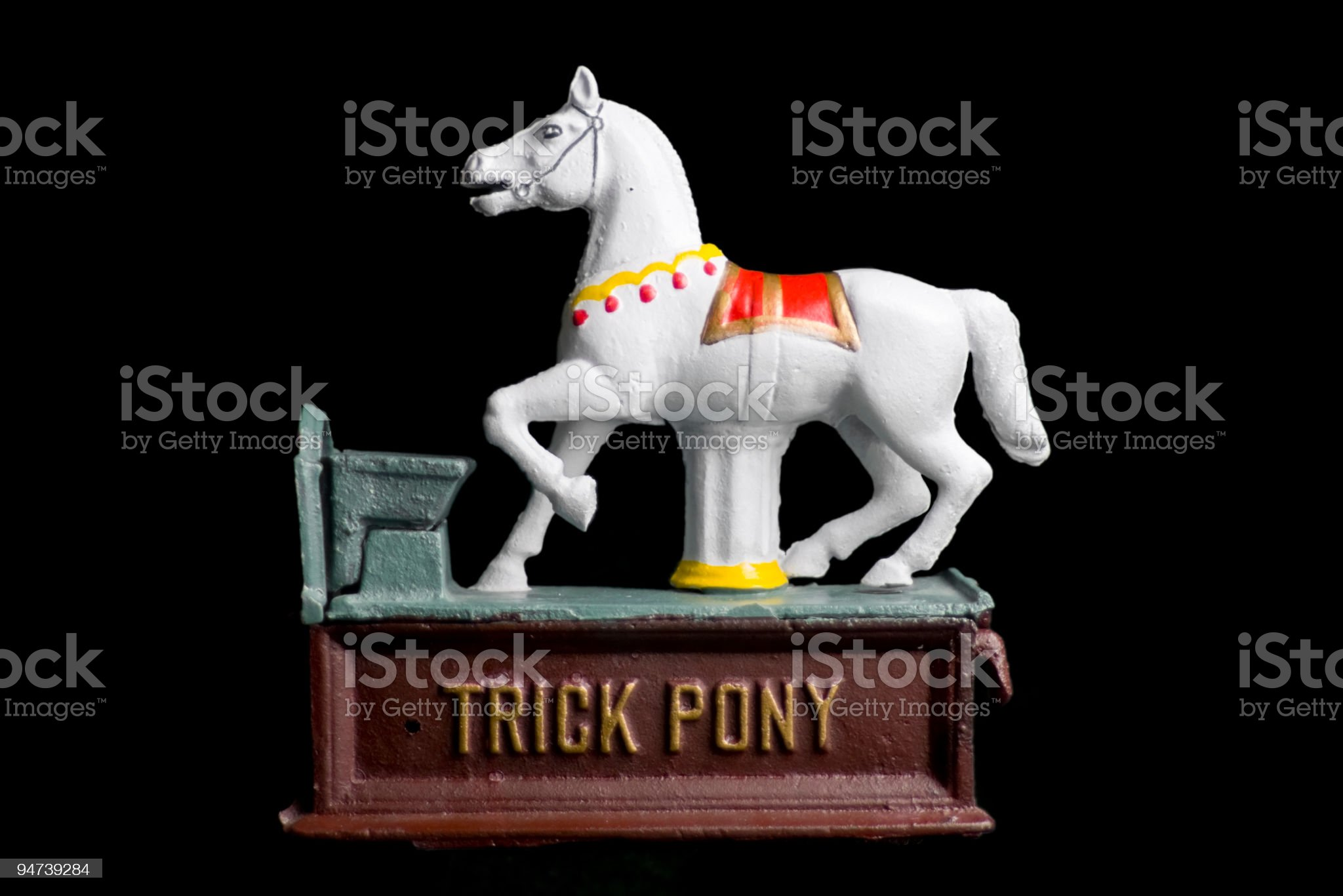 Trick Pony Coin Bank royalty-free stock photo