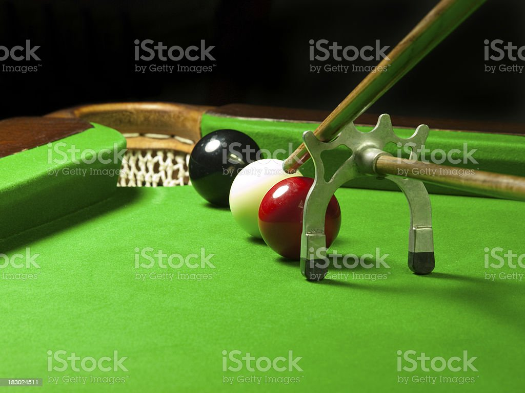 Tricky Snooker Shot royalty-free stock photo
