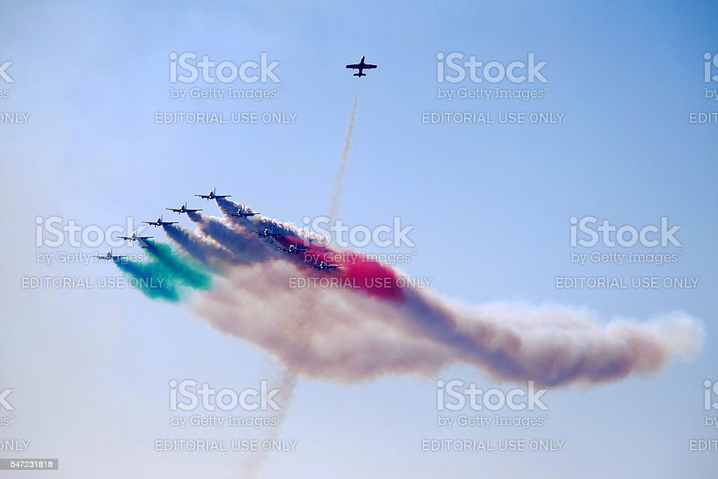 Frecce Tricolori stock photo