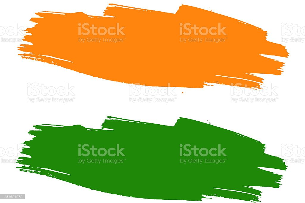 Tricolor Background, Saffron and Green Background stock photo