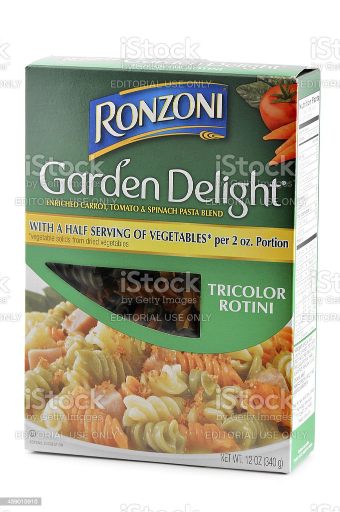 Tricolor Vegetable Rotini Pasta royalty-free stock photo