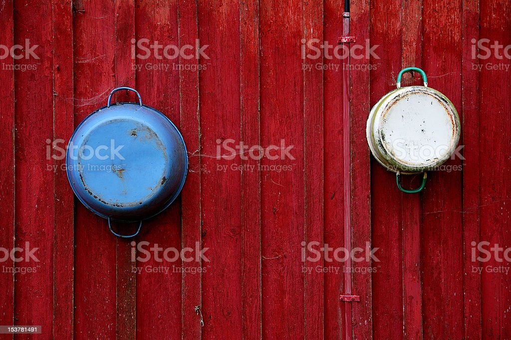 Tricolor wall stock photo
