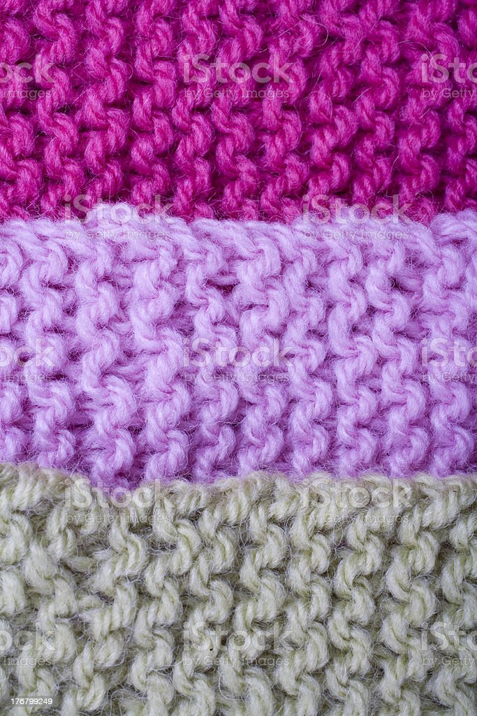Tricolour knit stock photo