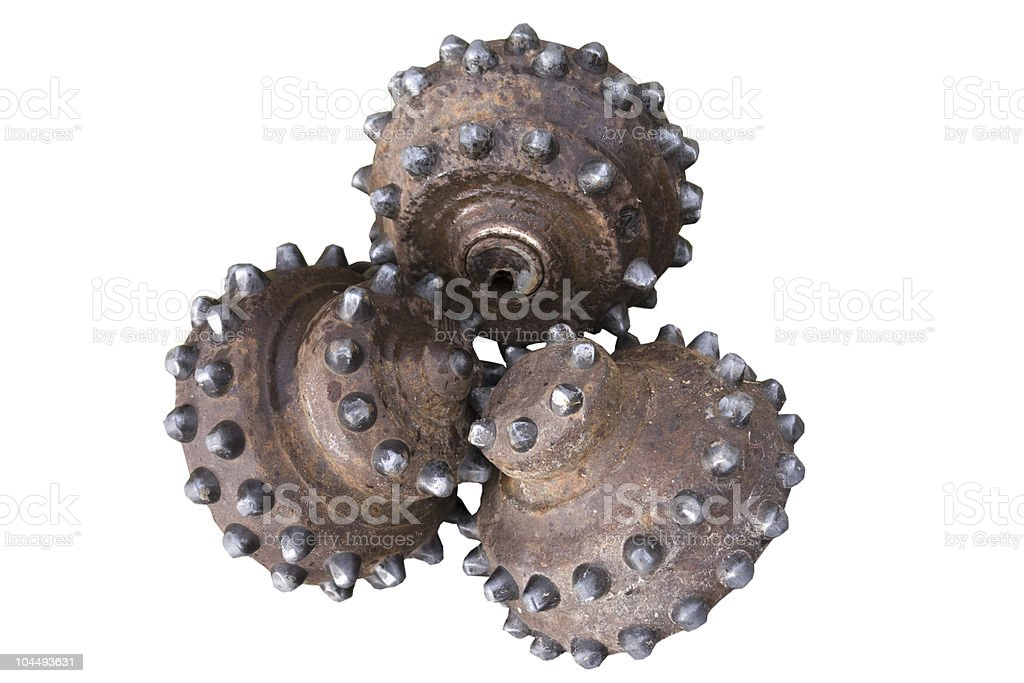 Tricone Bit for drilling stock photo