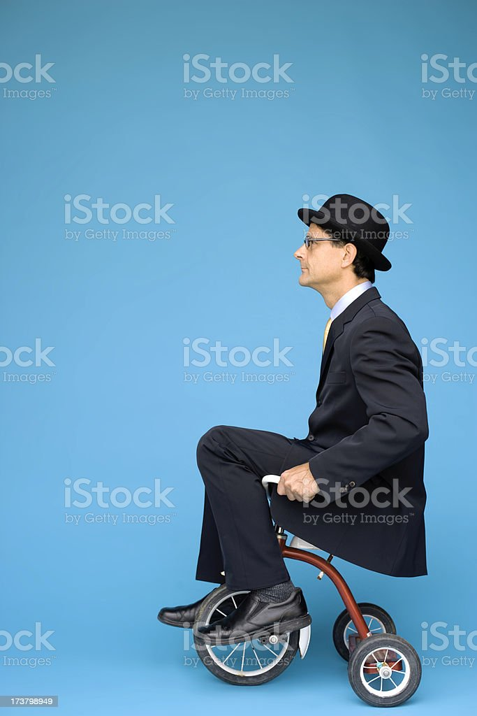 Tricycle Businessman stock photo