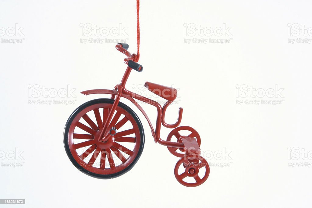 Tricycle Christmas Tree Ornament Isolated royalty-free stock photo