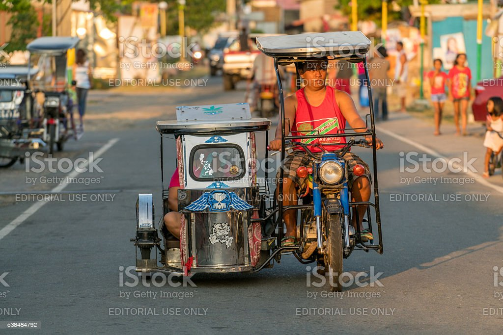 Tricycle in Batangas, Philippines stock photo