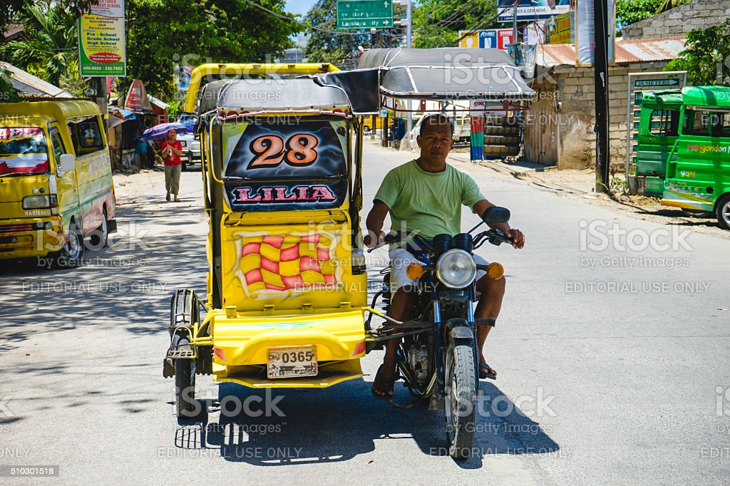 Tricycle in Cebu, Philippines stock photo