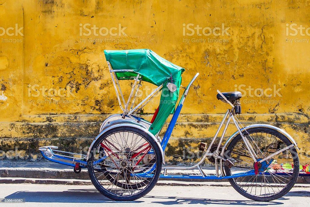 Tricycle in Hoi An Ancient Town, Central Vietnam stock photo