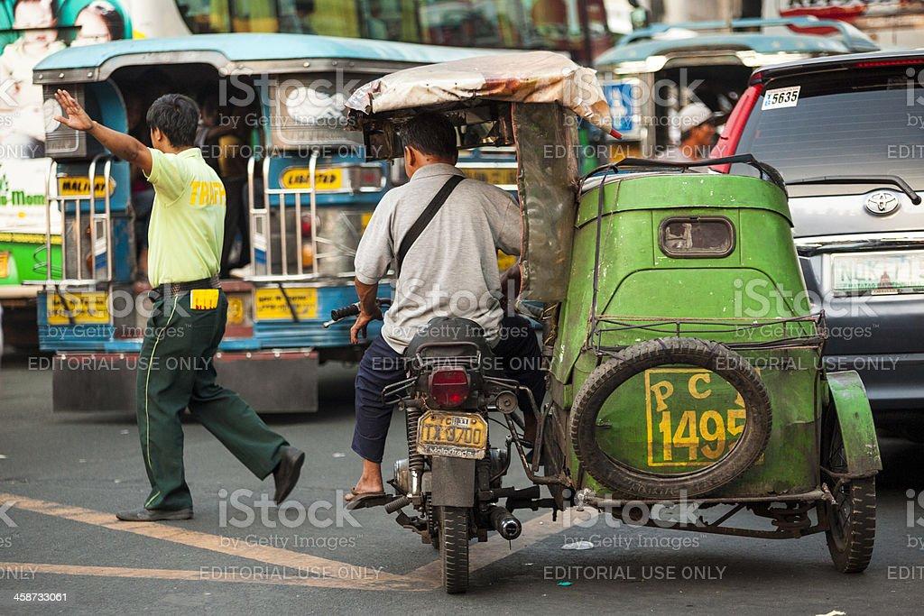 Tricycle in Metro Manila stock photo