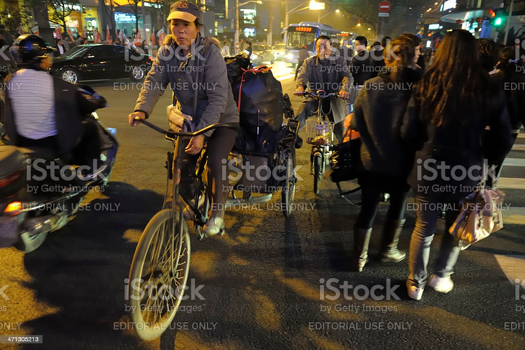 Tricycle in Shanghai royalty-free stock photo