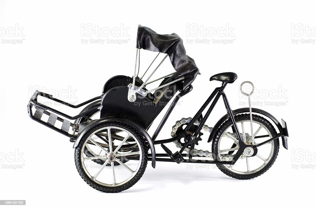 tricycle on white background stock photo
