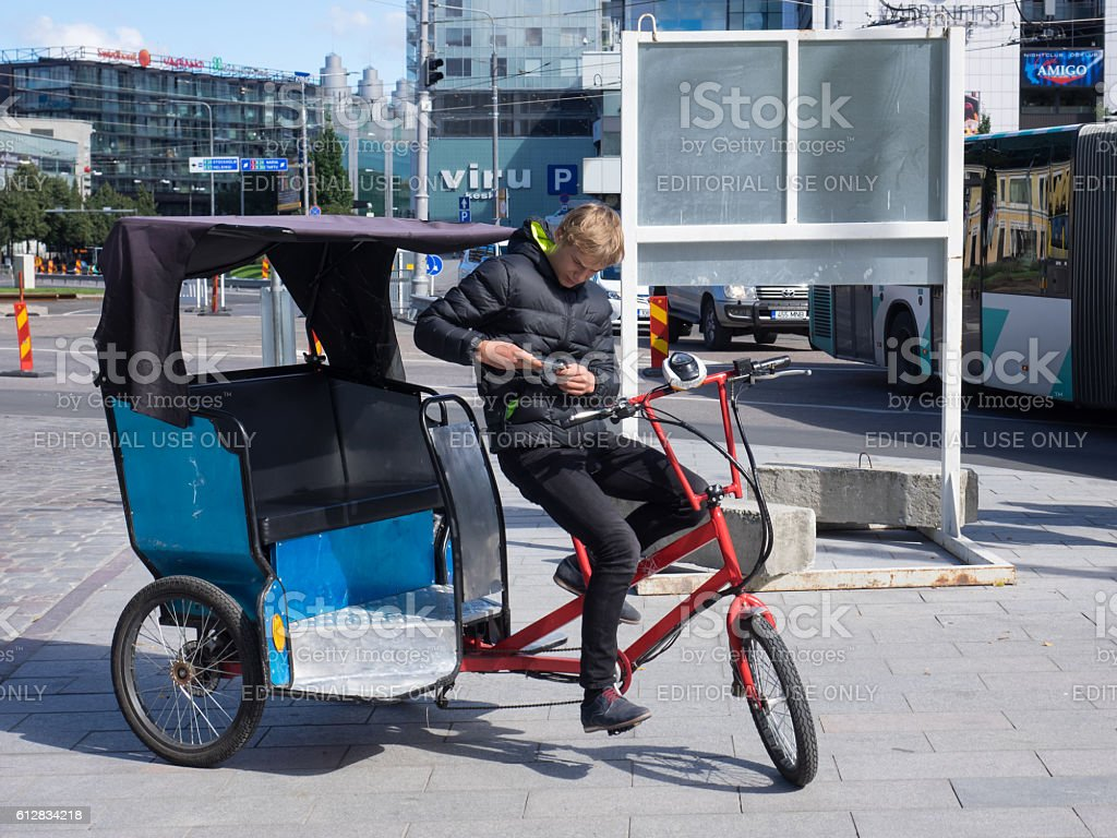 Tricycle tour stock photo