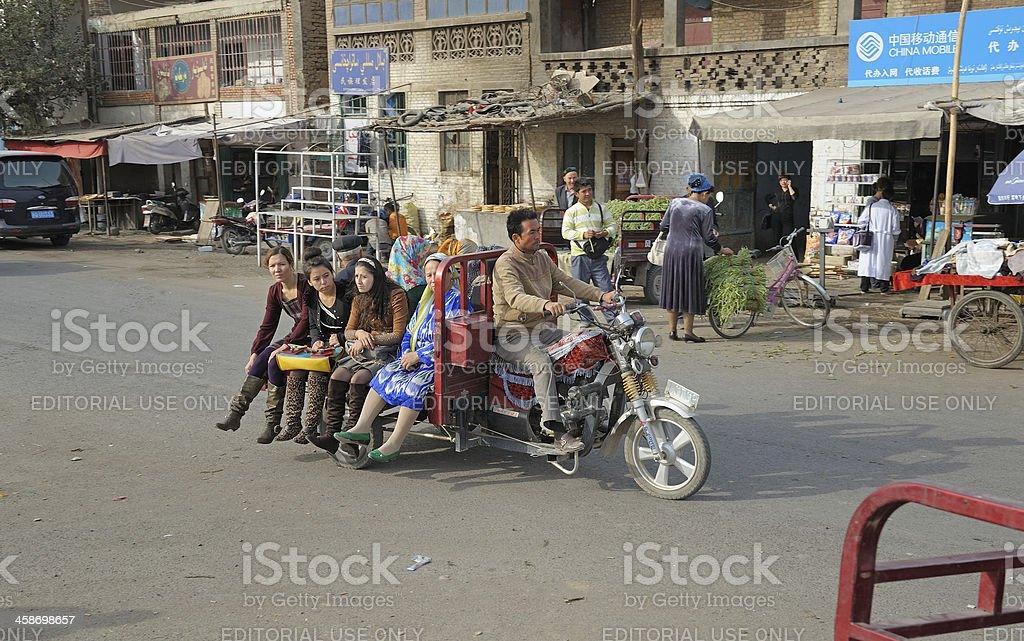Tricycle  transportation stock photo