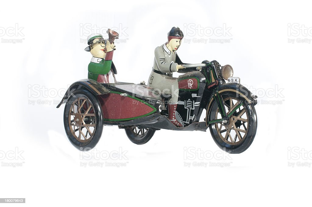 tricycle vintage toy isolate royalty-free stock photo