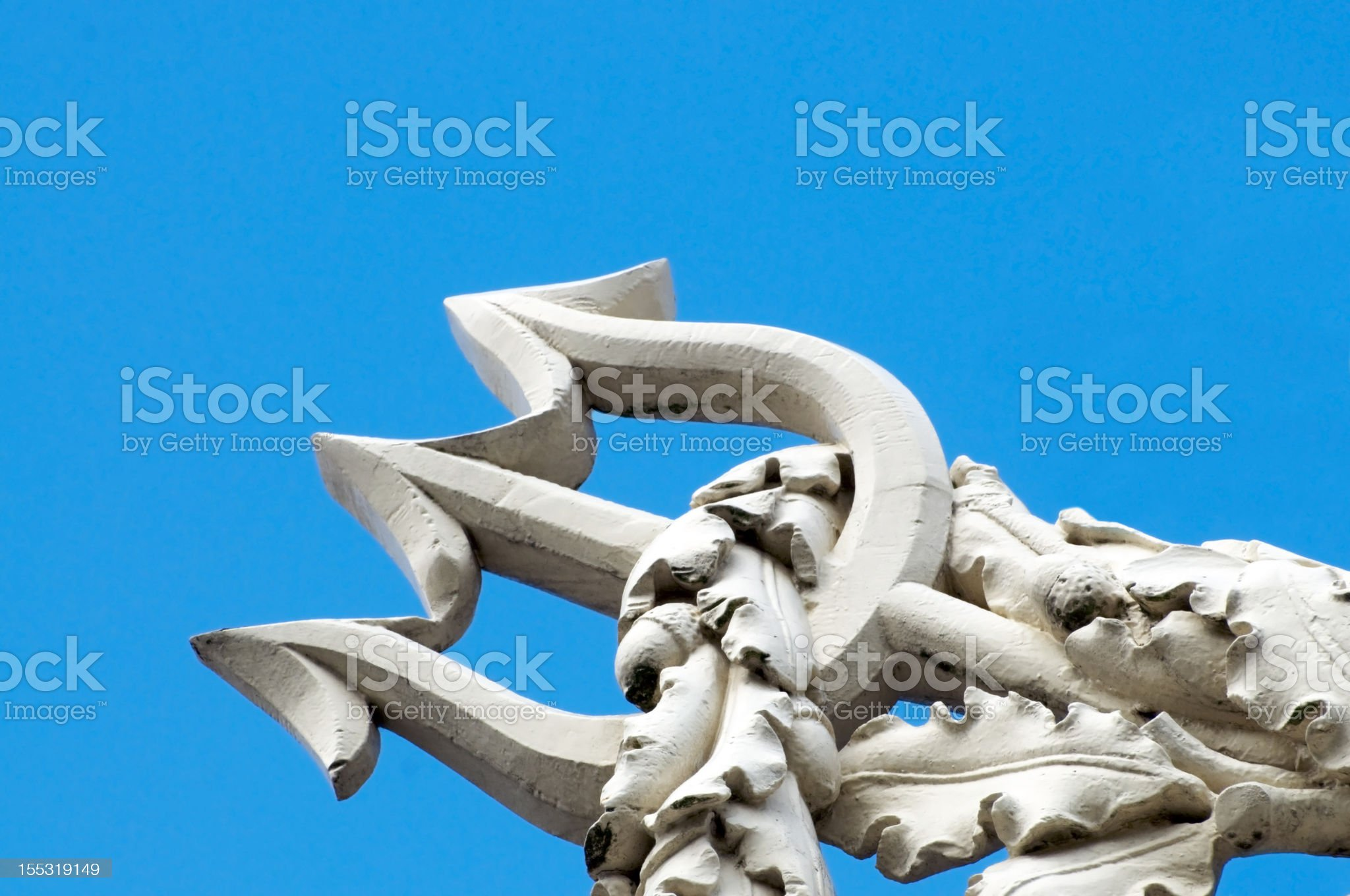 Trident of Neptune royalty-free stock photo