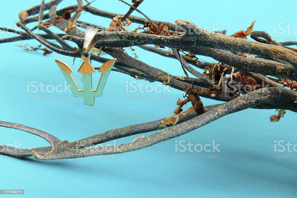 trident pendant royalty-free stock photo