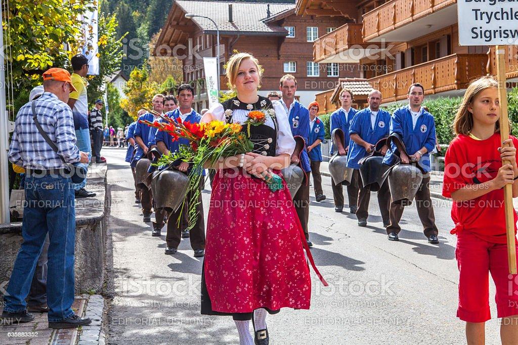 Triechler March in Lenk stock photo