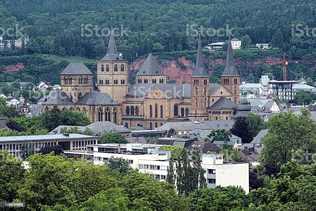 Trier Cathedral and Church of Our Lady, Germany stock photo