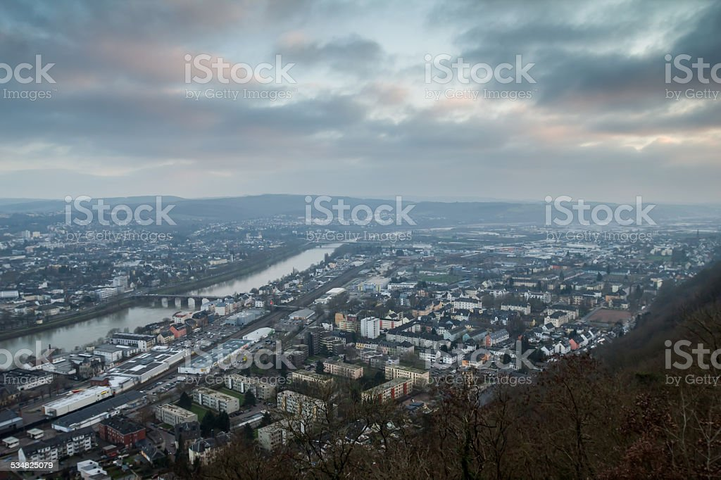 trier city in germany stock photo