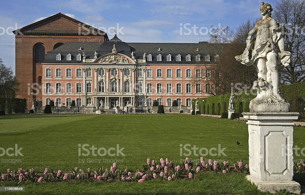 Trier prince electors palace stock photo