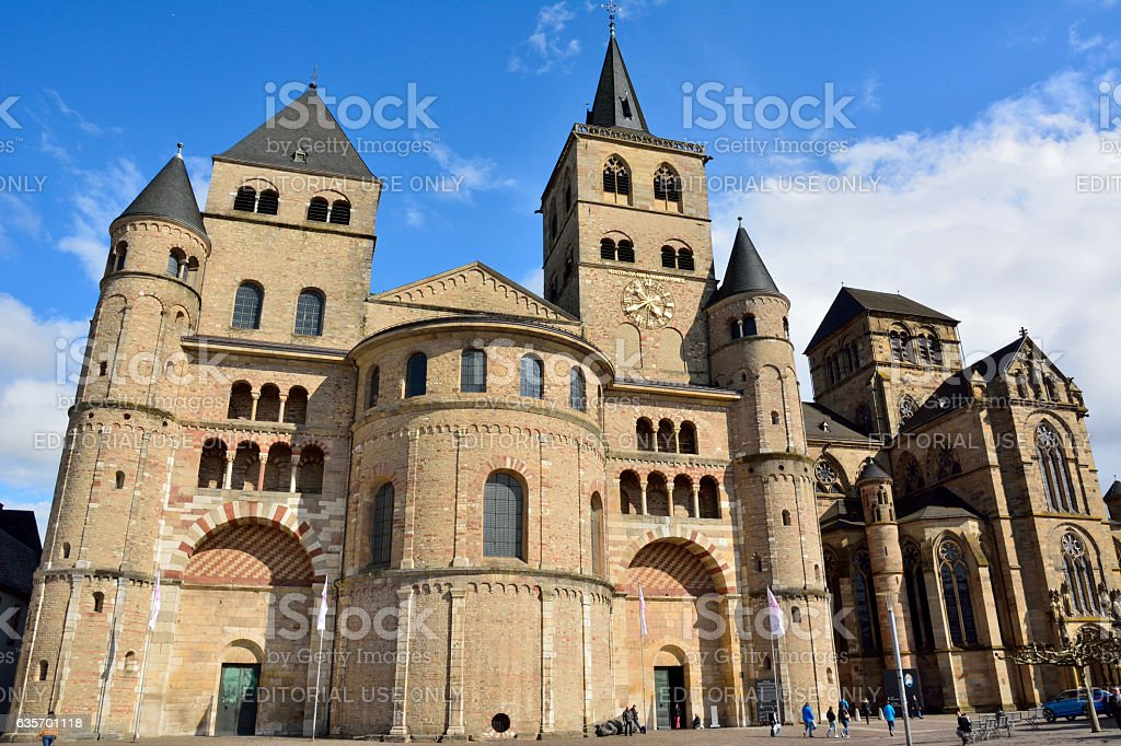 Trierer Dom cathedral in Trier stock photo