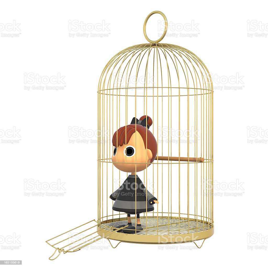 Tries out of the cage. royalty-free stock photo