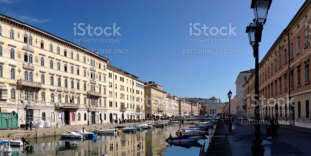 Trieste Grand Canal, Italy stock photo