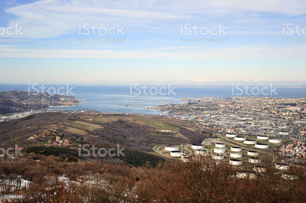 Trieste gulf stock photo
