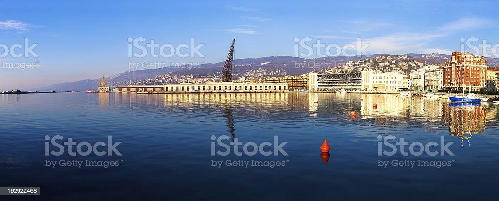Trieste Panoramic View stock photo