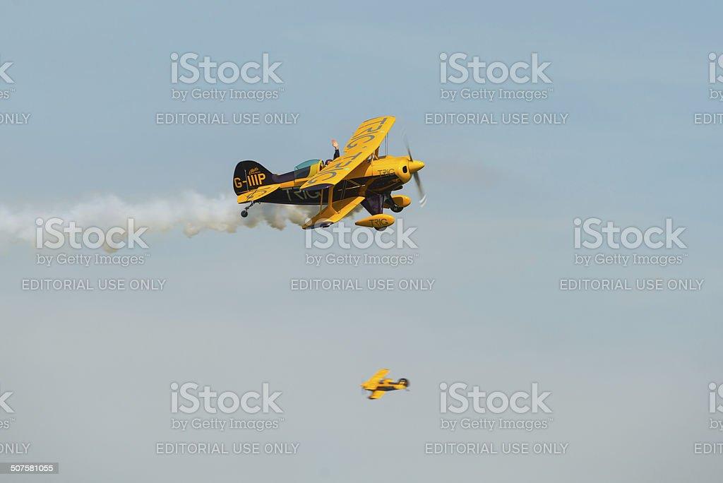 Trig aerobatic team stock photo