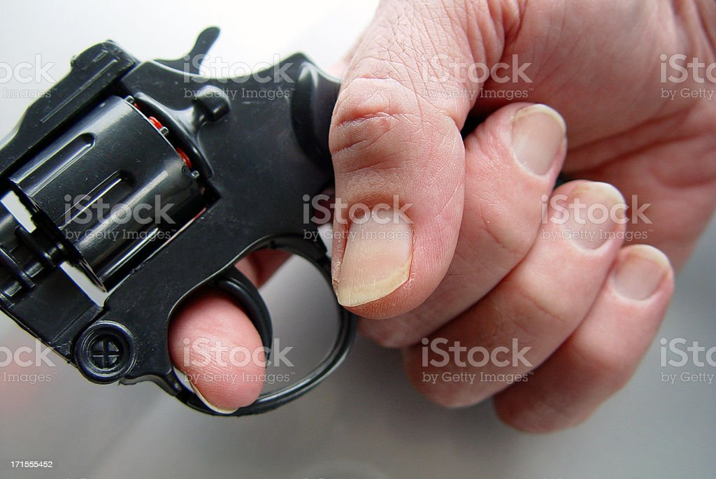 Trigger finger royalty-free stock photo