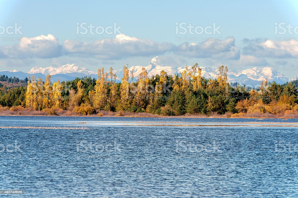Triglav with Cerknica lake,mountain, Triglav, Slovenia,Europe stock photo