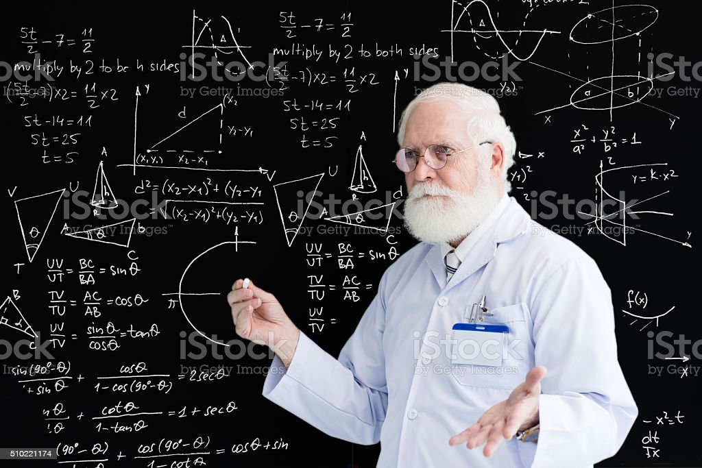 Trigonometry class stock photo