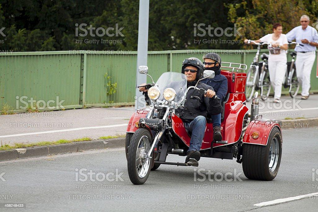 Trike tour stock photo