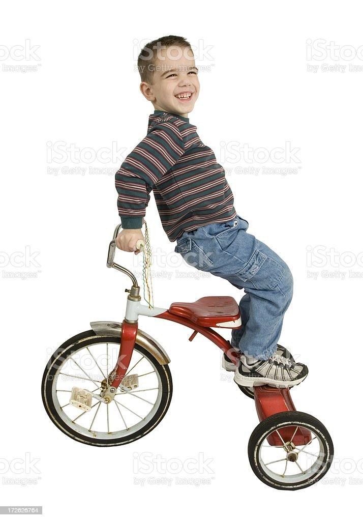 Trike Trick stock photo