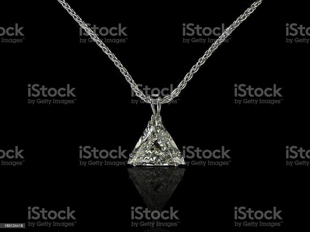Trilliant cut diamond pendant royalty-free stock photo