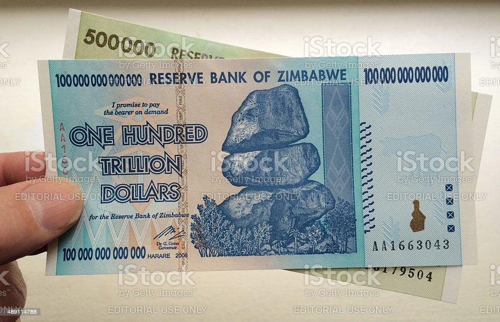 Trillion Dollars stock photo