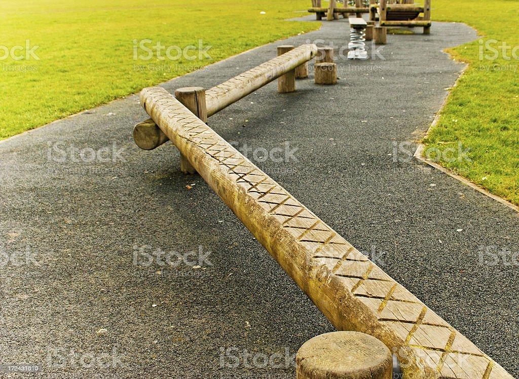 Trim trail balance beam royalty-free stock photo