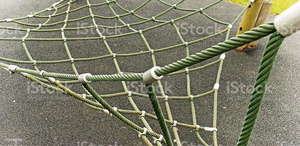 Trim trail scramble net stock photo
