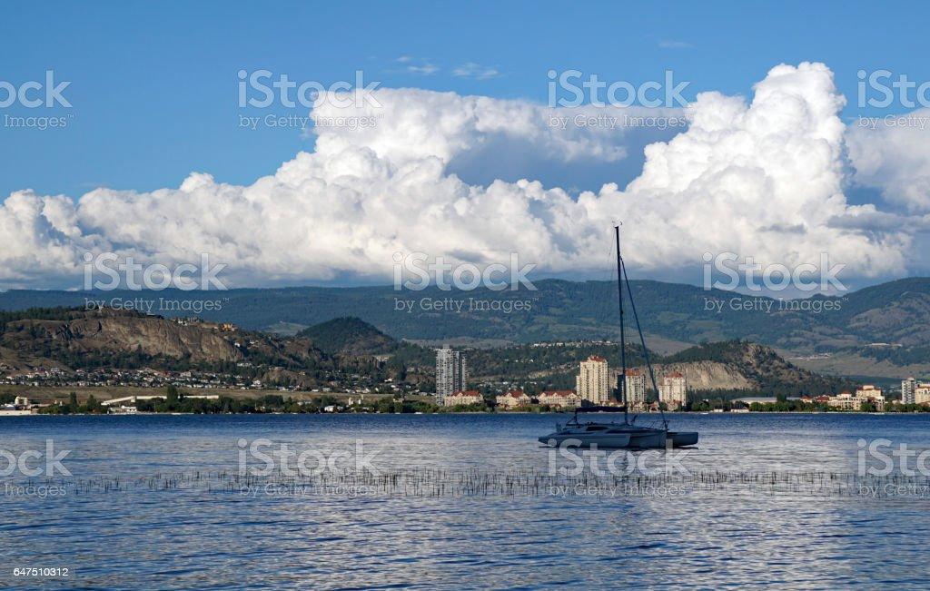 Trimaran boat stock photo