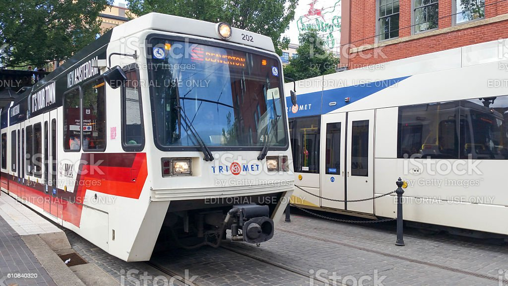 Trimet in Portland Oregon - Close Up stock photo