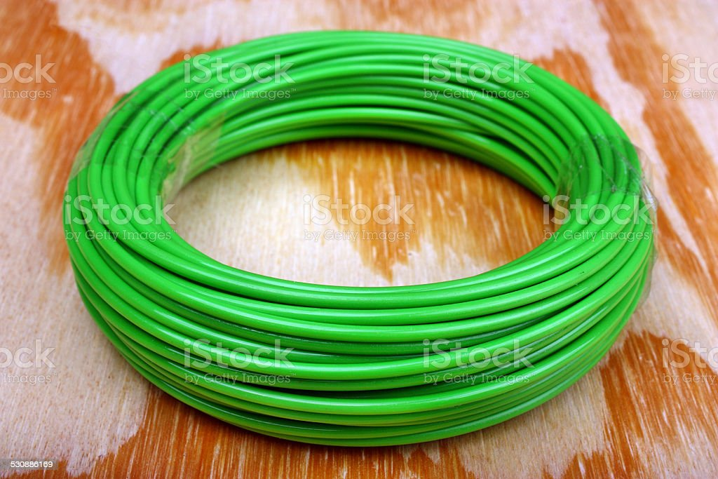 Trimmer line string stock photo