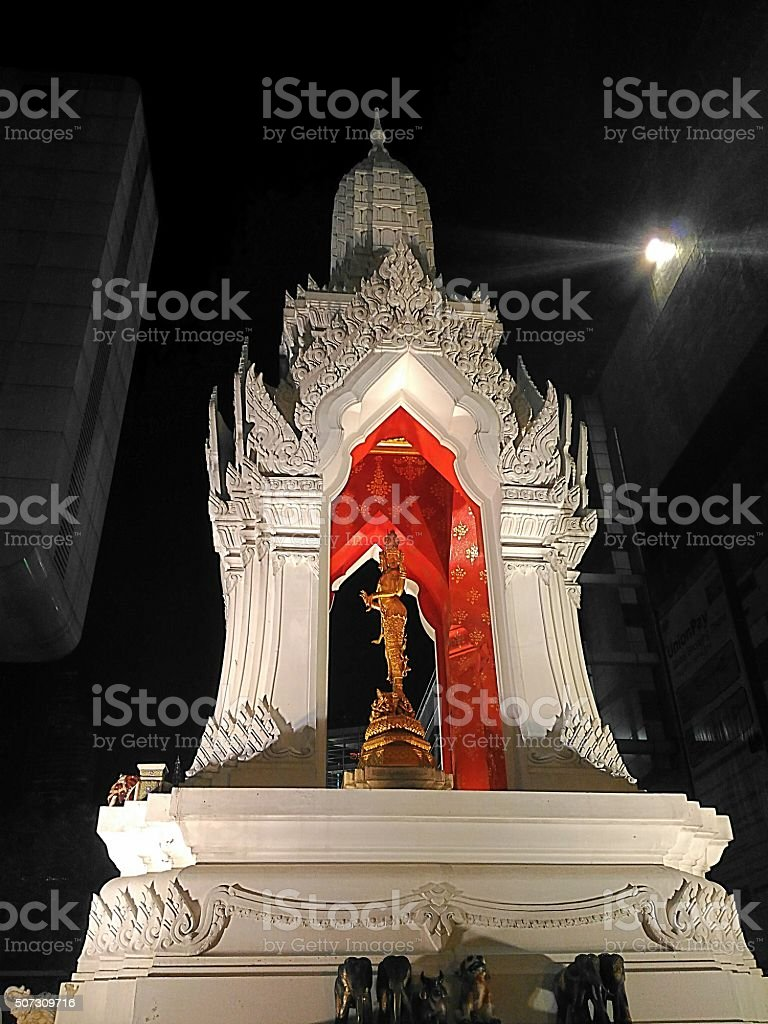 Trimurti at central world in Thailand stock photo