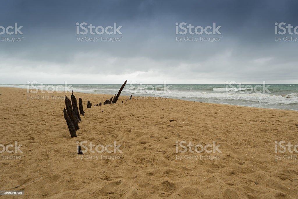 Trinculo shipwreck, Gippsland, Victoria, Australia stock photo