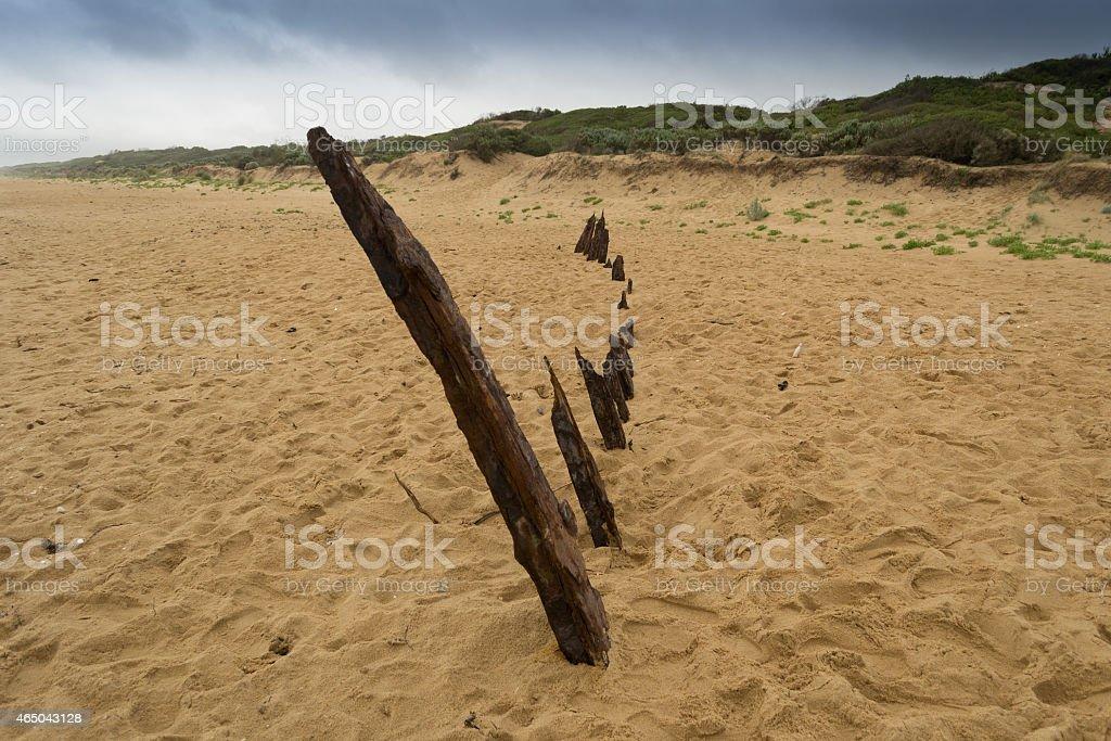 Trinculo shipwreck stock photo