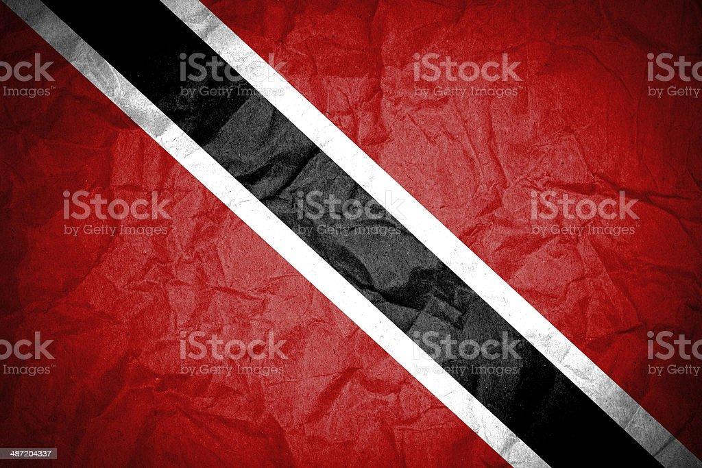 Trinidad and Tobago flag stock photo